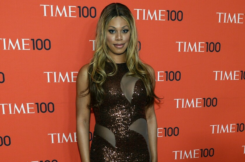 Laverne Cox attends the Time 100 gala on April 29, 2014.