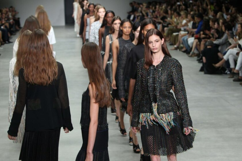 The Calvin Klein runway collection during New York Fashion Week. According to a study by digital marketing firm Silverpop, the brand added 35,153 Twitter followers during NYFW -- the most of any label.