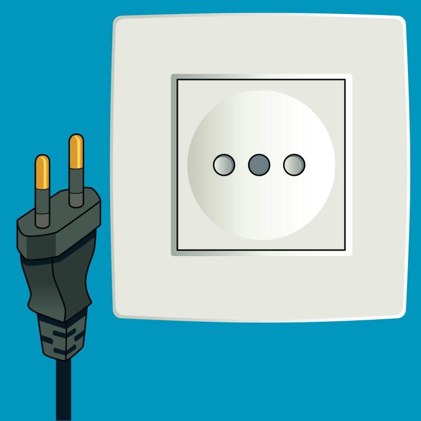 Type C plug and socket
