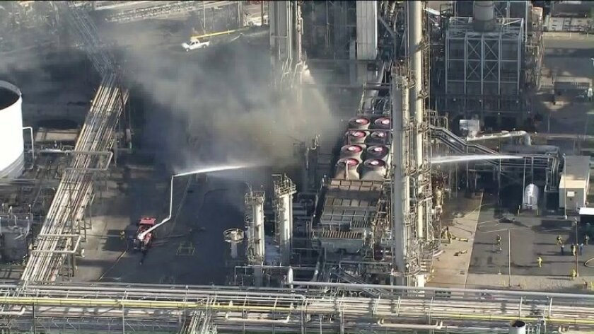 Phillips 66 Refinery In Carson Hit By Second Fire In Two Months
