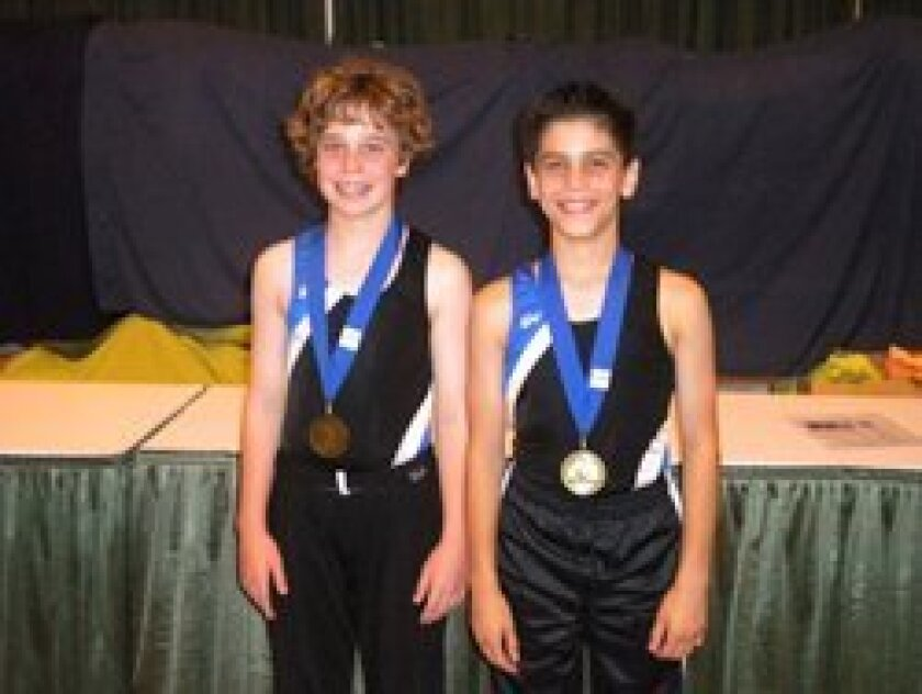 Gabriel Garon and KJ Newman (above and right on the victory podium).