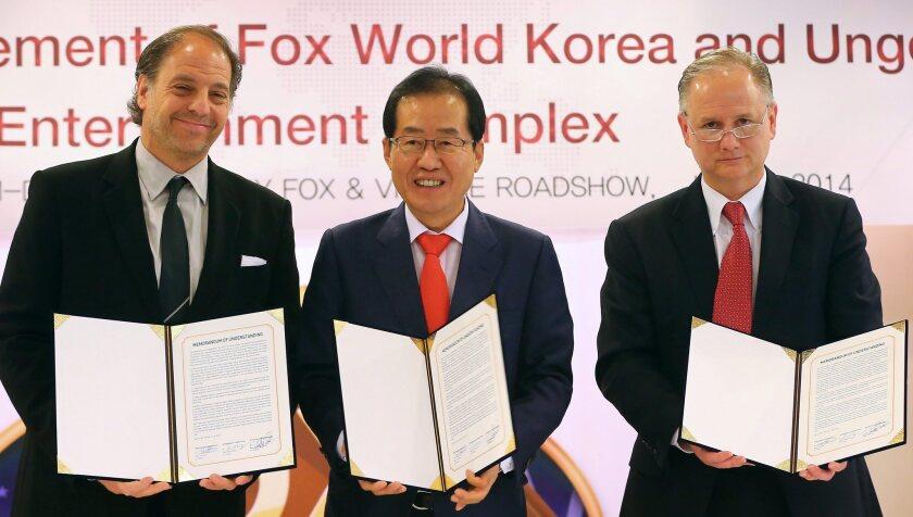 20th Century Fox to build theme park in South Korea