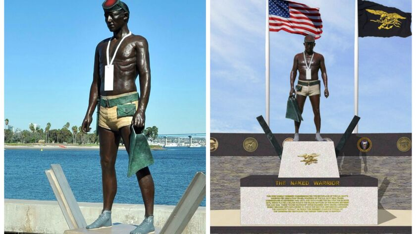 Navy SEAL statues mirror each other across country - The San Diego