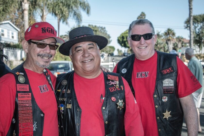 "E Clampus Vitus stalwarts Robert Ramos (""Noble Grand Humbug""), Tomas Gonzales (""Gold Dust Receiver""), and Bill Martin (""Vitter"")"