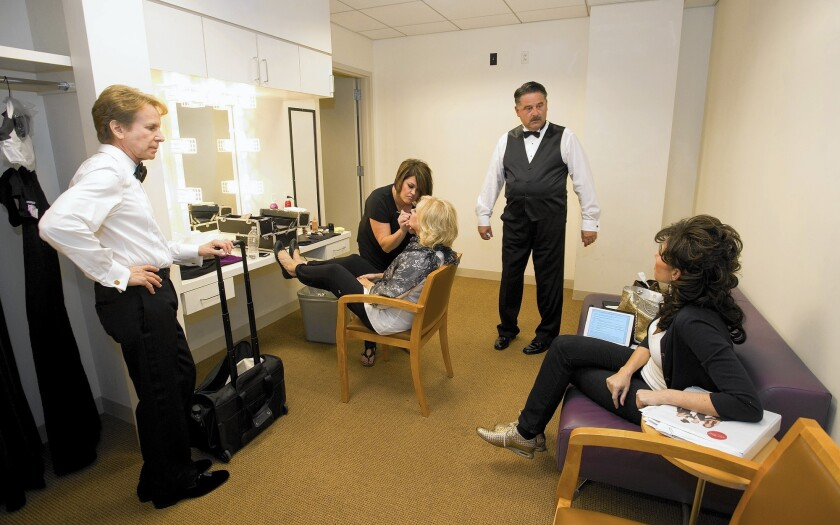 Backstage with the stars and Tom Shelton in their dressing room prepare for their debut at SCFTA.