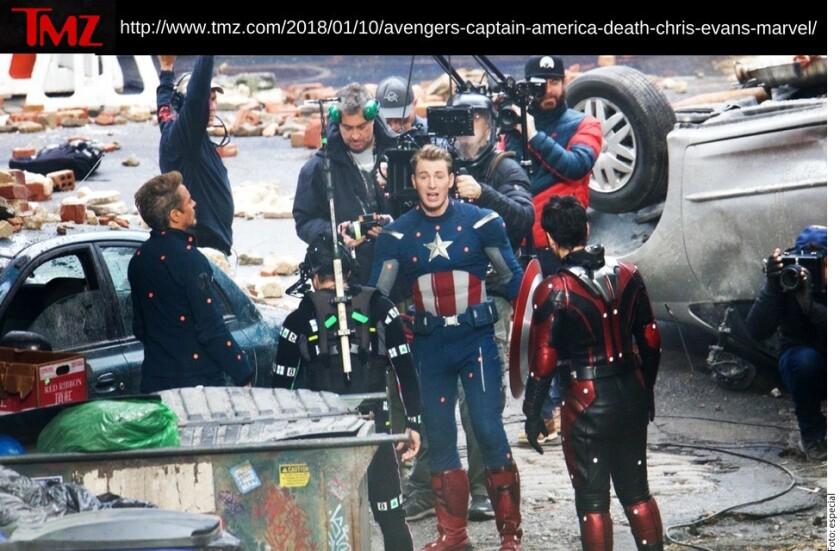 Parte del elenco de Avengers: Infinity War fue captado durante la filmación de la cuarta cinta de la saga, informó TMZ.