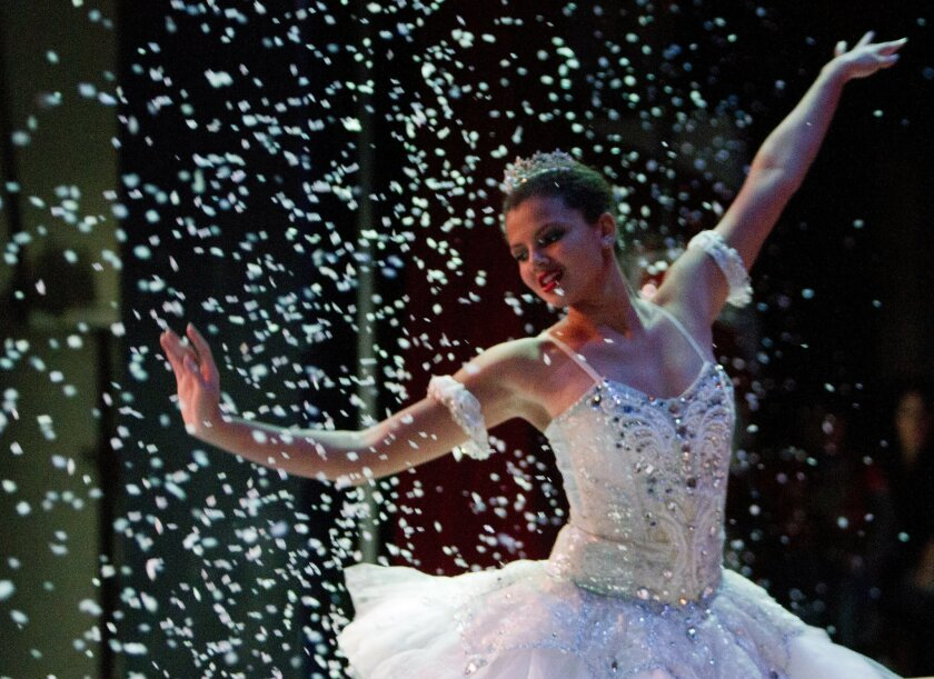 The Snow Queen, played by Lauren Fleming in last year's production, is a part of San Diego Civic Youth Ballet's annual performance of The Nutcracker in Balboa Park. The production kicks off Dec. 13 at Casa del Prado Theater, 1600 Village Place, Balboa Park. $10 to $15. (619) 233-3060 or sdcyb.org