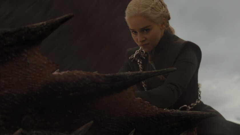 "Emilia Clarke stars as Daenerys Targaryen in the ""Game of Thrones"" episode ""The Spoils of War."""