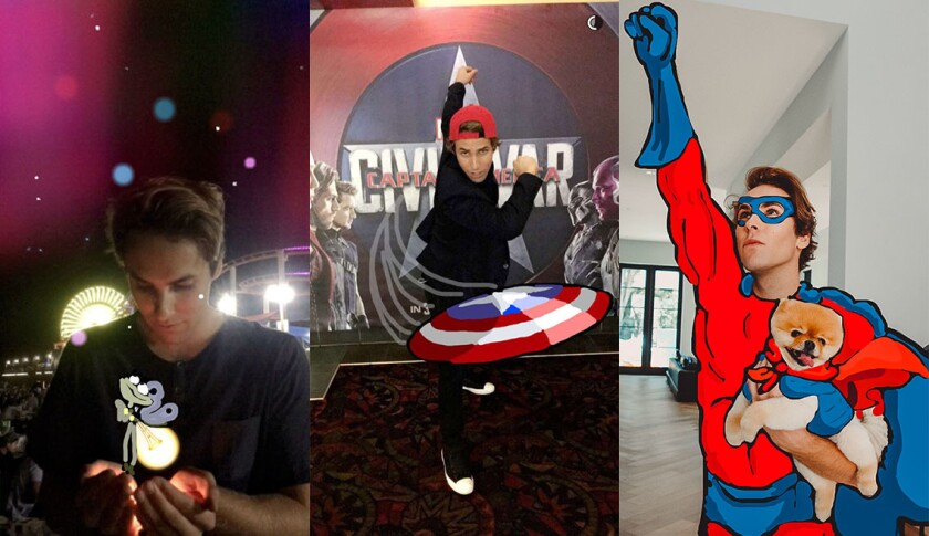 Snapchat star Tristan de Burgh shows off his handiwork.