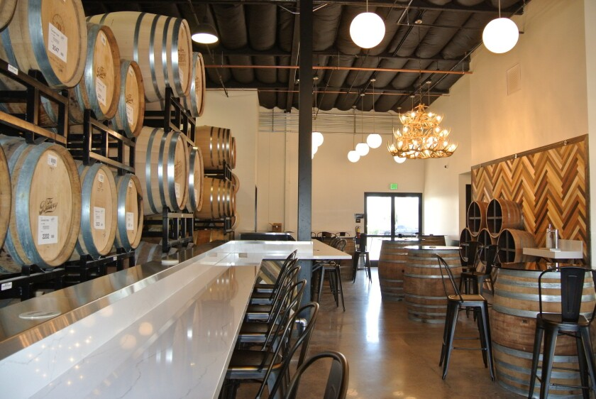 The tasting room at the new Bruery Terreux in Anaheim.