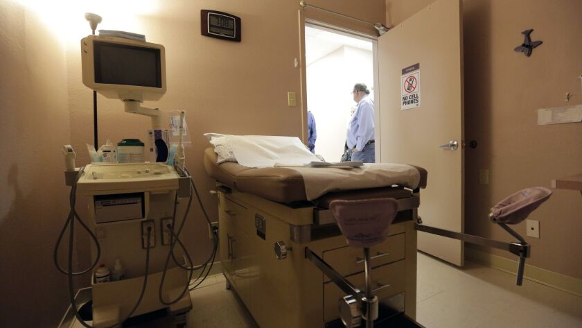 A procedure room is seen during a tour and event at Whole Woman's Health of San Antonio, Tuesday, Fe