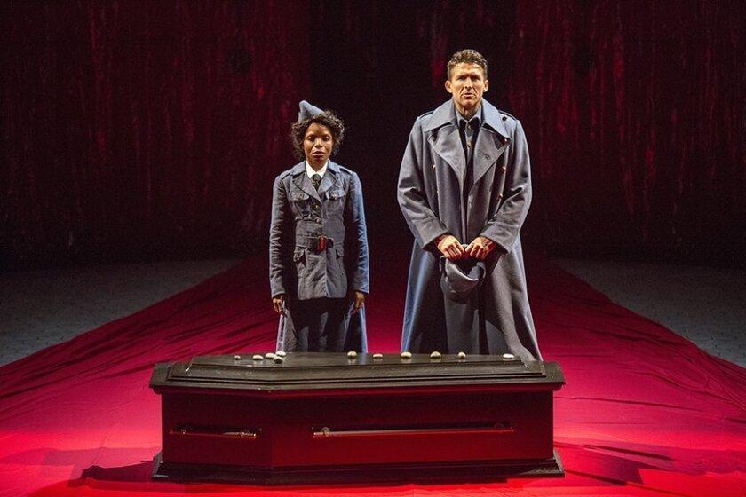 """Marsha Stephanie Blake and Jonathan Cake in the Old Globe Theatre's """"Macbeth."""""""