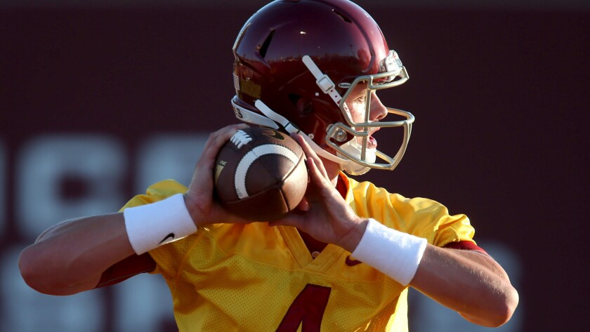 Max Browne, who will be a fourth-year junior next season, considers himself the front-runner to be the next USC quarterback.