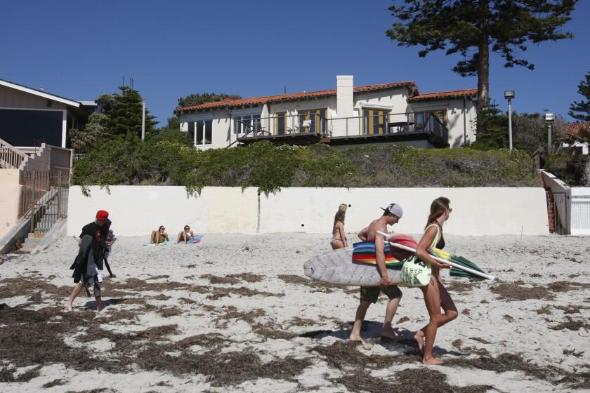 Mitt Romney's beachfront property in La Jolla, shown in this 2012 file photo.