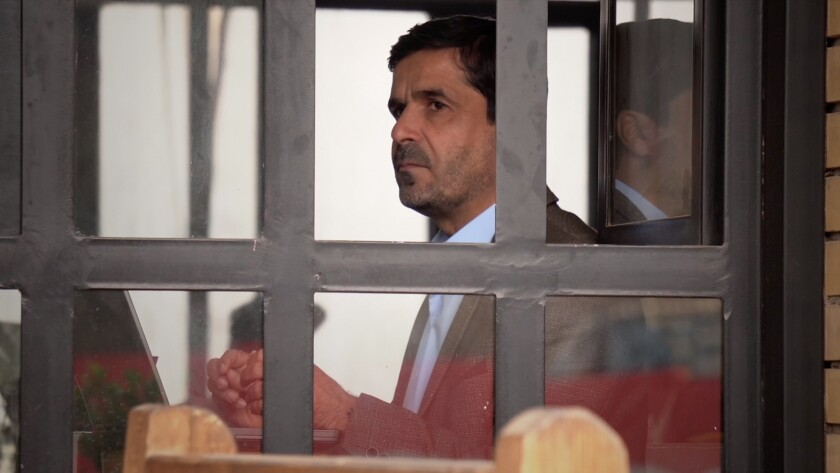 "Journalist Ali Maula in a scene from the film ""Mosul."" Credit: Gravitas Ventures"