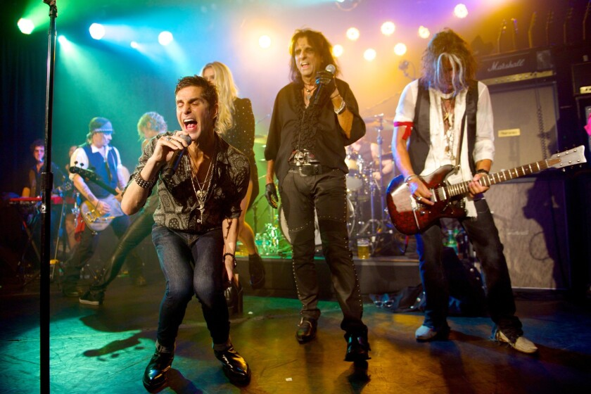 Singer Perry Farrell guests with Hollywood Vampires