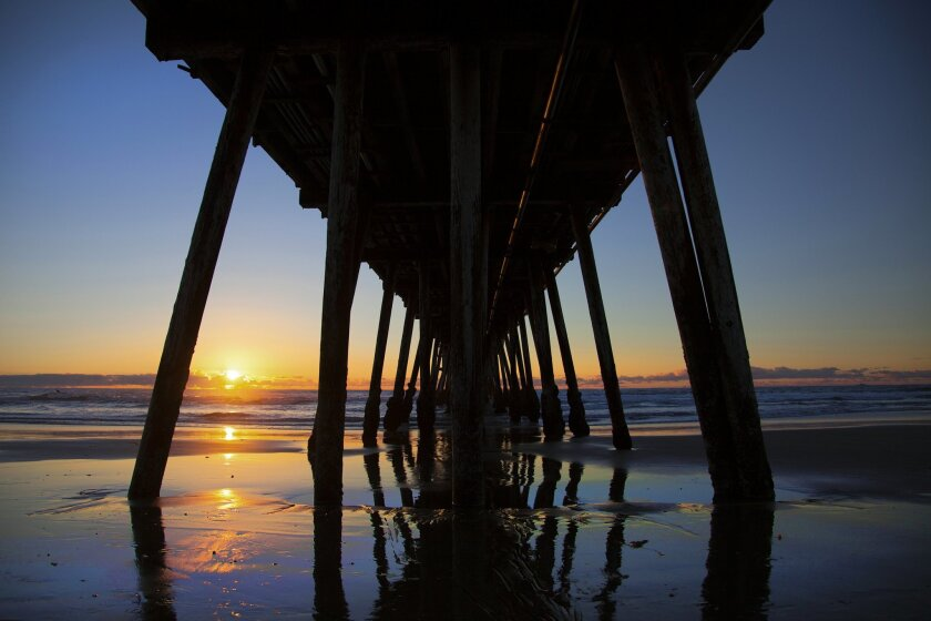 Beautiful day ends with an equally beautiful sunset framed by the Imperial Beach Pier.