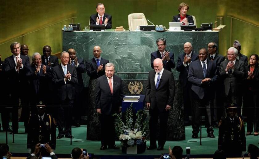 """El próximo secretario general de la ONU, António Guterres, aseguró hoy que los desafíos del mundo están superando las capacidades de Naciones Unidas y avisó de que la organización """"debe estar lista para cambiar"""". EFE"""
