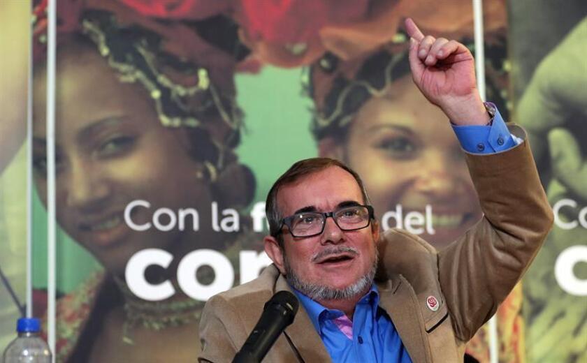 En la imagen, el líder la Fuerza Alternativa Revolucionaria del Común (FARC), Rodrigo Londoño. EFE/Archivo