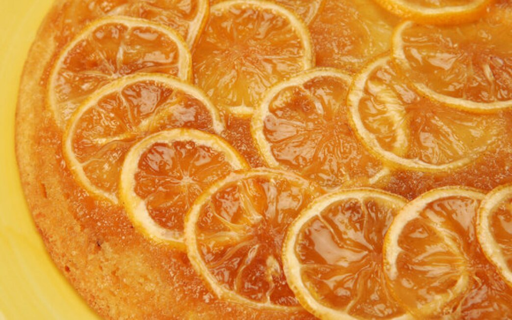 Lemon upside-down cake