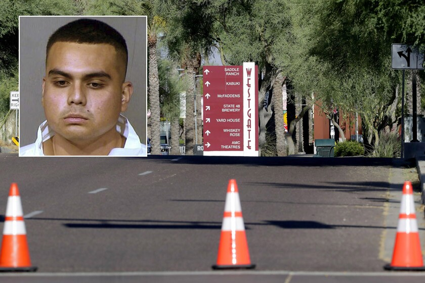 Police say 20-year-old Armando Hernandez, inset, filmed his shooting rampage in Glendale, Ariz.