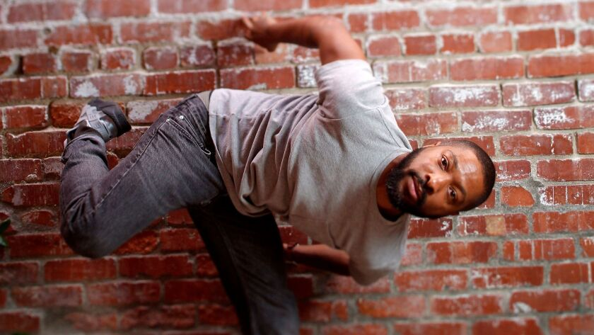 Choreographer Kyle Abraham and his company, Abraham.In.Motion, perform this weekend at the Broad Sta
