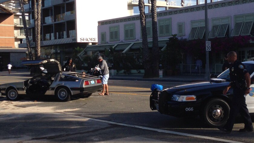 It didn't take long for police to spot a stolen DeLorean in Santa Monica on Thursday.