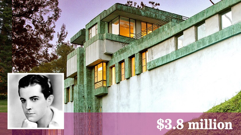 The Lloyd Wright-designed house built for actor Ramon Novarro in Hollywood Hills has sold for $3.8 million.