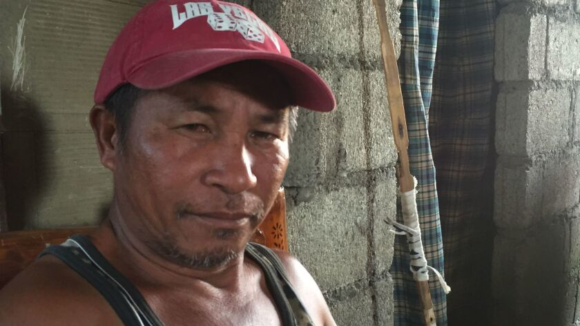 Viany Mula, 45, hopes to return to fishing at Scarborough Shoal soon.