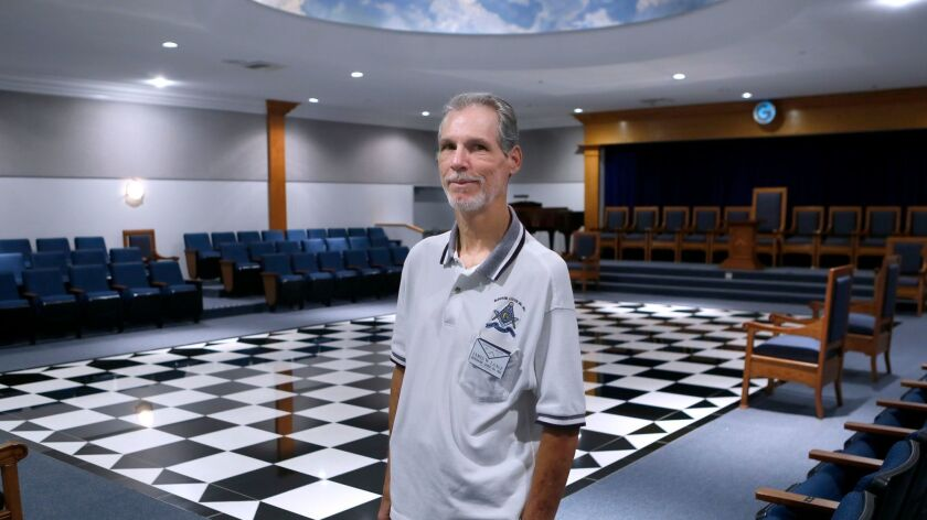 Worshipful Master James W. Laage will help the Burbank Masonic Lodge on Irving Drive will celebrate 300 years of freemasonry.
