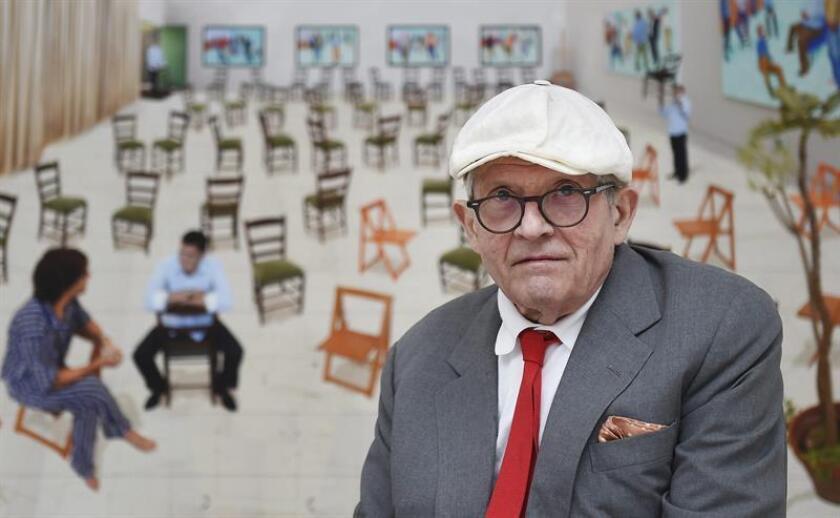 Christie's anunció hoy que pondrá a la venta el próximo 15 de noviembre un cuadro de David Hockney con un precio estimado de 80 millones de dólares, lo que supondría un récord para un artista vivo. EFE/Archivo