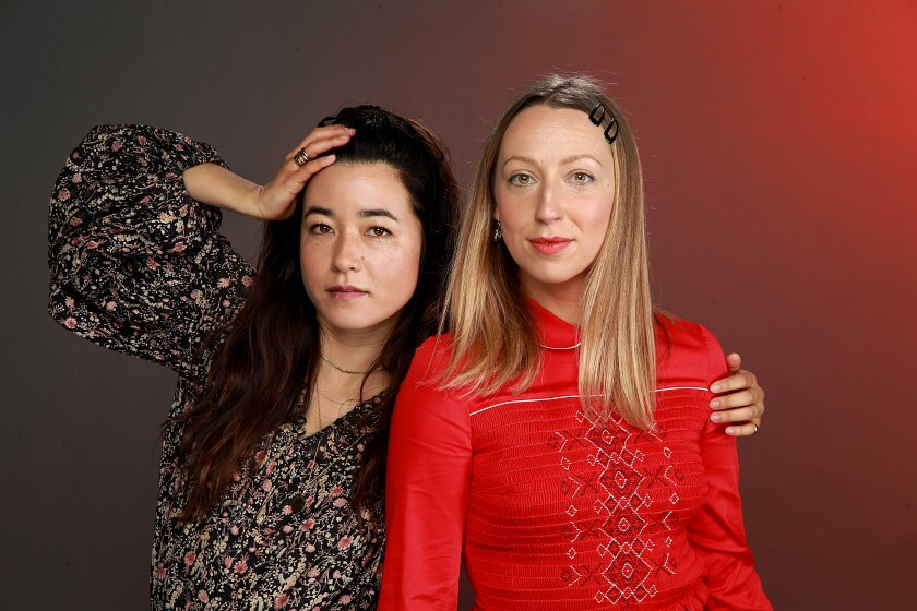 """Maya Erskine and Anna Konkle play versions of themselves as teenage outcasts in the early 2000s in Hulu's """"PEN15."""""""