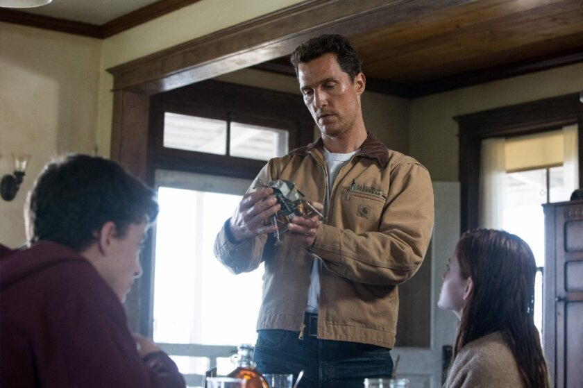 "Matthew McConaughey stars in the sci-fi epic ""Interstellar."""