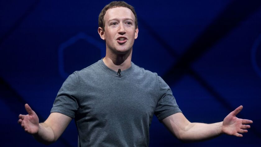 FILE - In this April 18, 2017 file photo, Facebook CEO Mark Zuckerberg speaks at his company's annua