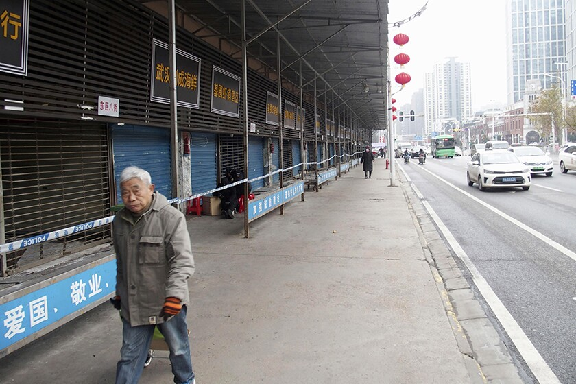 Many of the first cases of coronavirus had connections to a seafood market in Wuhan, China, which was closed for an investigation.
