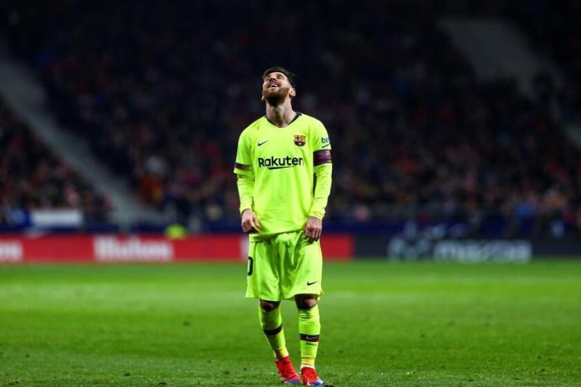 El delantero argentino del FC Barcelona Lionel Messi. EFE/Archivo