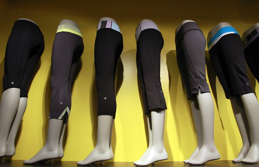Lululemon, known for its yoga pants, said Chief Executive Christine Day would step down from her post once a replacement was found.