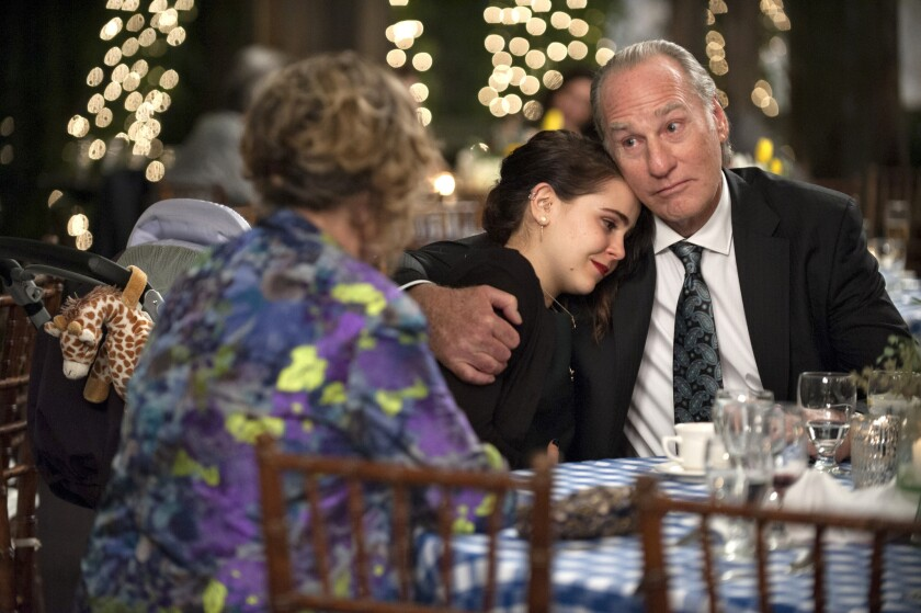"""An embrace between Mae Whitman and Craig T. Nelson on """"Parenthood."""""""