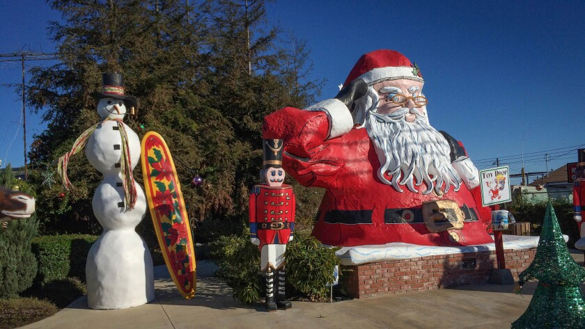 Nov. 29, 2015:. Statue of St. Nicholas sits at the Santa Park in Nyeland Acres next to the 101 Freew