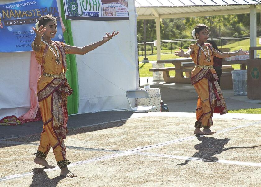 Several dance groups performed at the Indian cultural event