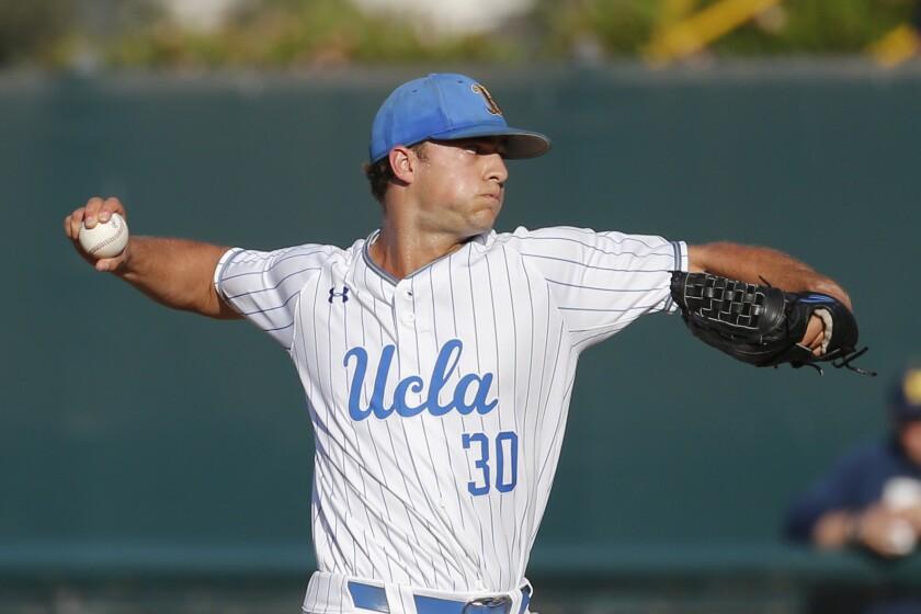 APphoto_NCAA Michigan UCLA Baseball