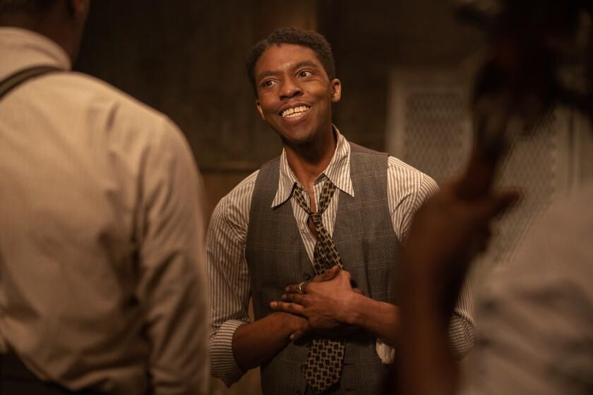 "Chadwick Boseman in ""Ma Rainey's Black Bottom."""