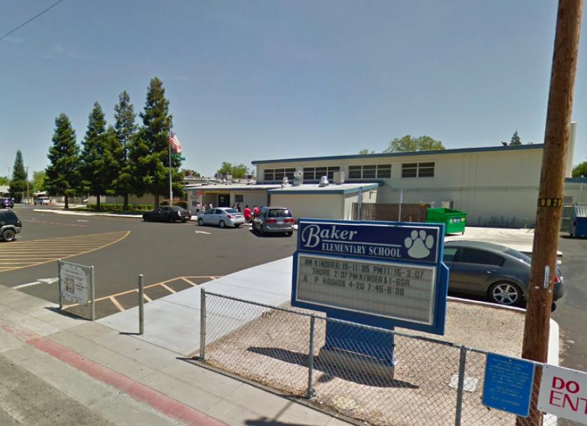 The exterior of Ethel I. Baker Elementary School in Sacramento.