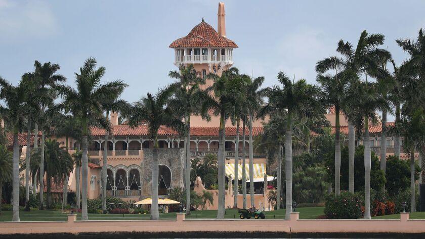 Exterior of President Trump's Mar-a-Lago resort.