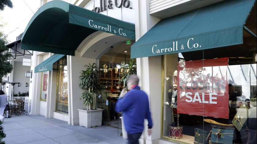 BEVERLY HILLS, CA -- DECEMBER 04, 2018: Carroll & Co., a 70-year-old clothing store in Beverly Hills