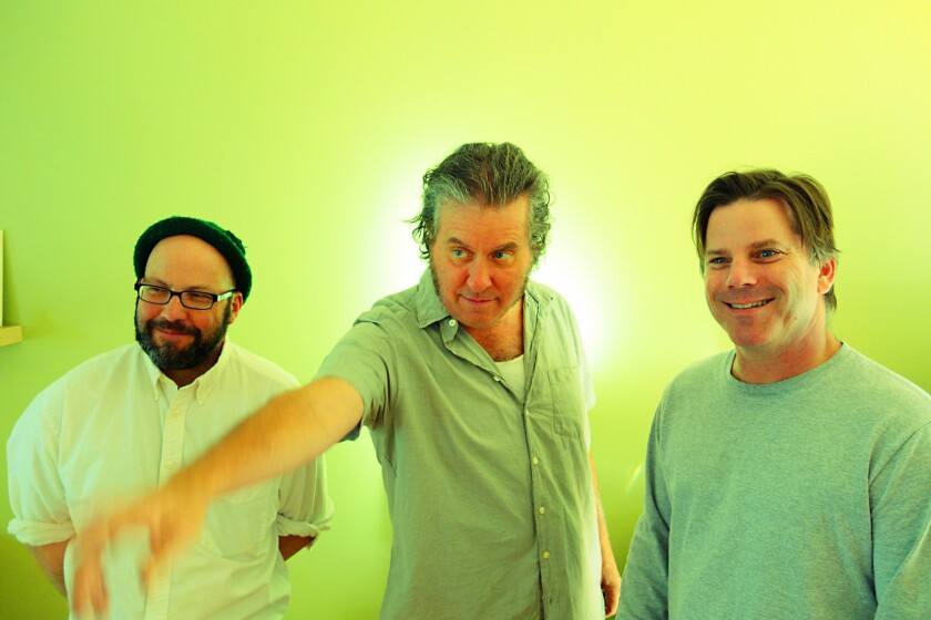 """Polaris (from left, Scott Boutier, Mark Mulcahy, Dave McCaffrey), a band created for the 1990s TV show """"The Adventures of Pete and Pete,"""" is on tour for the first time."""