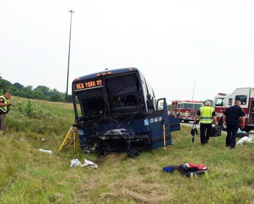 Greyhound bus crash