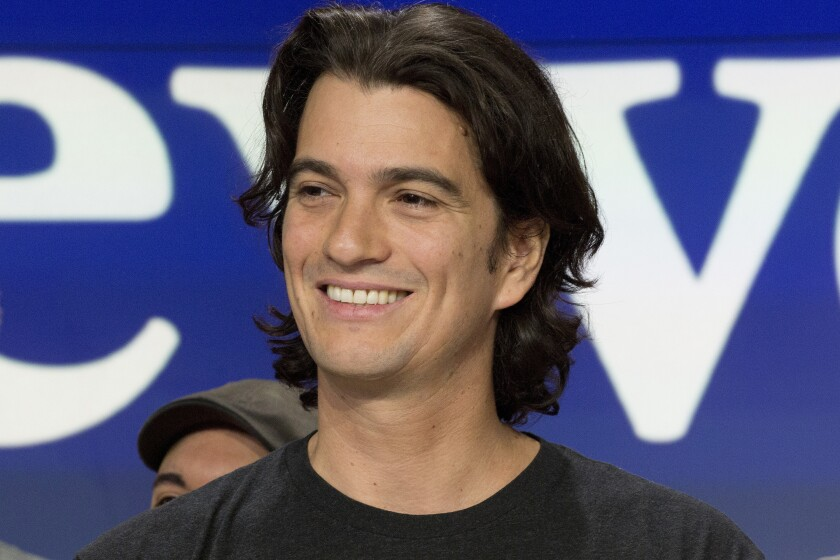 Adam Neumann, co-founder and CEO of WeWork, will walk away with $1.7 billion from Japan's SoftBank Group when he severs ties with the company.
