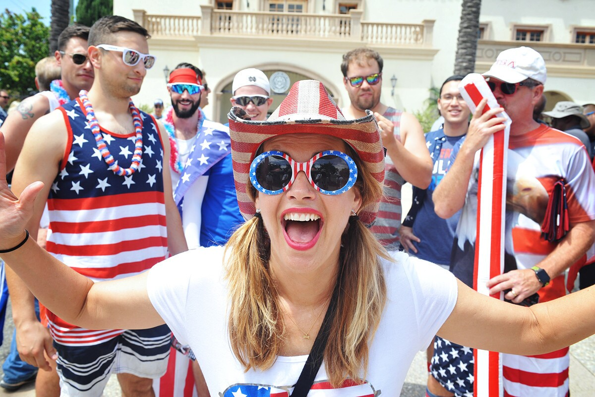 Locals caught the USA vs. Canada men's rugby game at the University of San Diego, which qualified team USA for the Rugby World Cup, on Saturday, July 1, 2017. (Rick Nocon)