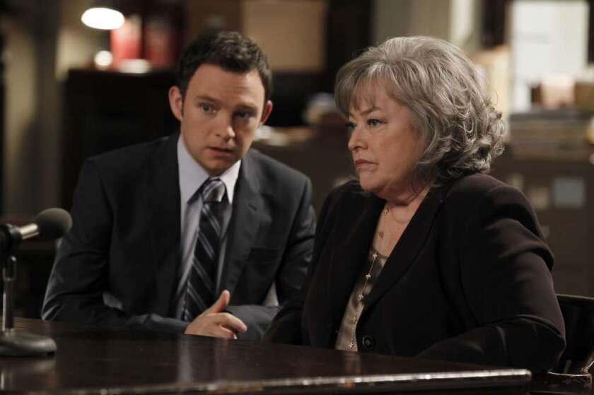 """Kathy Bates in """"Harry's Law,"""" which reportedly was canceled by NBC due to its older-than-desired audience."""